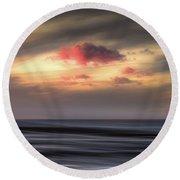 Pink Cloud Round Beach Towel