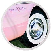 Pink Desoto Fireflite Round Beach Towel
