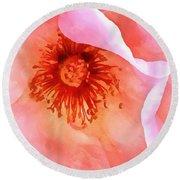 Pink Devotion Round Beach Towel