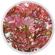 Pink Dogwood Flowering Tree Art Prints Canvas Baslee Troutman Round Beach Towel