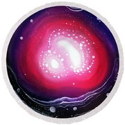 Pink Flash Of Energy. Sweet Dreams. Astral Vision Round Beach Towel