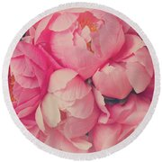 Everything Is Pink  Round Beach Towel