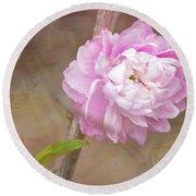 Dwarf Flowering Almond Romantic Floral Round Beach Towel