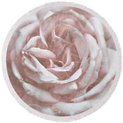 Pink Garden Rose Round Beach Towel