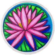 Pink Gem 2 Round Beach Towel