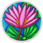 Pink Gem 3 Round Beach Towel