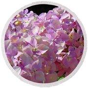 Pink Hydrangea Flower Floral Art Prints Baslee Troutman Round Beach Towel