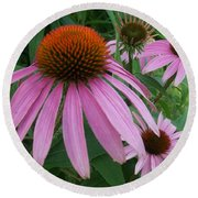 Pink In The Garden Round Beach Towel