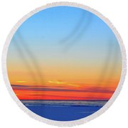 Pink In Winter Two Round Beach Towel