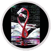 Pink Infinity Whimsical Round Beach Towel