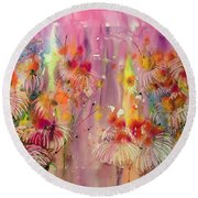 Pink Ladies Round Beach Towel