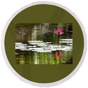 Pink Lily 12 Round Beach Towel