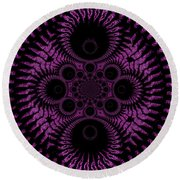 Pink Madness Round Beach Towel