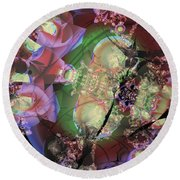 Pink Pachinko Round Beach Towel