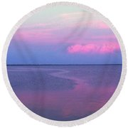 Pink Path Round Beach Towel