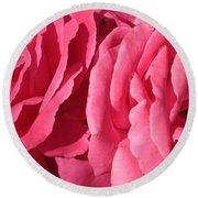 Pink Petals Round Beach Towel