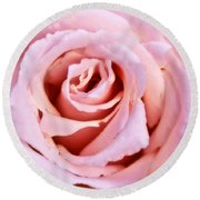 Pink Pink Rose Round Beach Towel