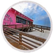 Pink Pony Round Beach Towel