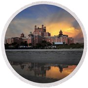 Pink Reflections Round Beach Towel