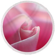 Pink Rose 2 Round Beach Towel