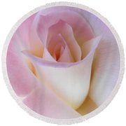 Pink Rose Beginnings Round Beach Towel