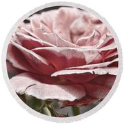 Pink Rose Faded Round Beach Towel