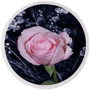 Pink Rose Of Imperfection Round Beach Towel
