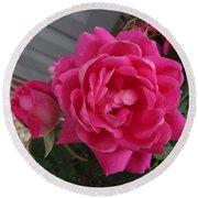 Pink Roses 2 Round Beach Towel