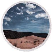 Pink Sand Dunes Np Round Beach Towel