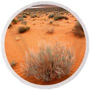 Pink Sand Of Lake Powell Round Beach Towel