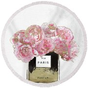 Pink Scented Round Beach Towel