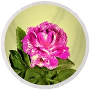 Pink Speckled Rose 1 Round Beach Towel