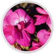 Pink Spring Florals Round Beach Towel