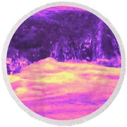 Pink Tidal Pool Round Beach Towel