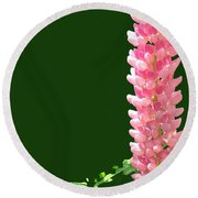 Pink Tower Round Beach Towel