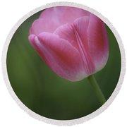 Pink Tulip Round Beach Towel