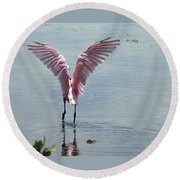 Pink Wings Round Beach Towel