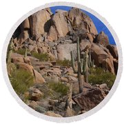 Pinnacle Peak Round Beach Towel