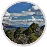 Pinon Forest At The Top Of Kolob Canyon Round Beach Towel