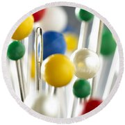 Pins And Needle Round Beach Towel
