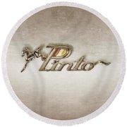Pinto Car Badge Round Beach Towel
