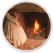 Pioneer Fire Impressions Round Beach Towel