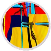 Pipe Dream Round Beach Towel