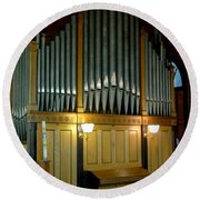 Pipe Organ Of Old Round Beach Towel