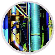Pipes Round Beach Towel