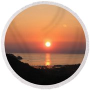 Piran's Sunset I Round Beach Towel