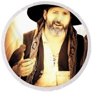 Pirate Mattie Round Beach Towel