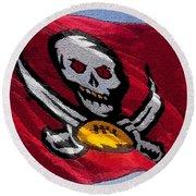 Pirate Football Round Beach Towel