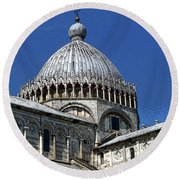 Pisa Cathedral Dome Round Beach Towel