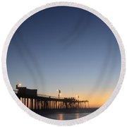 Pismo Beach Pier California 3 Round Beach Towel